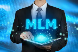 businessman learning Multi-Level Marketing (MLM).concept