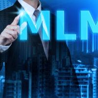 businessman learning Multi-Level Marketing (MLM).concept
